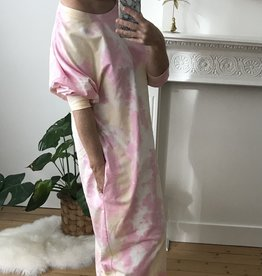 Comfy sweaterdress Tie Dye pink