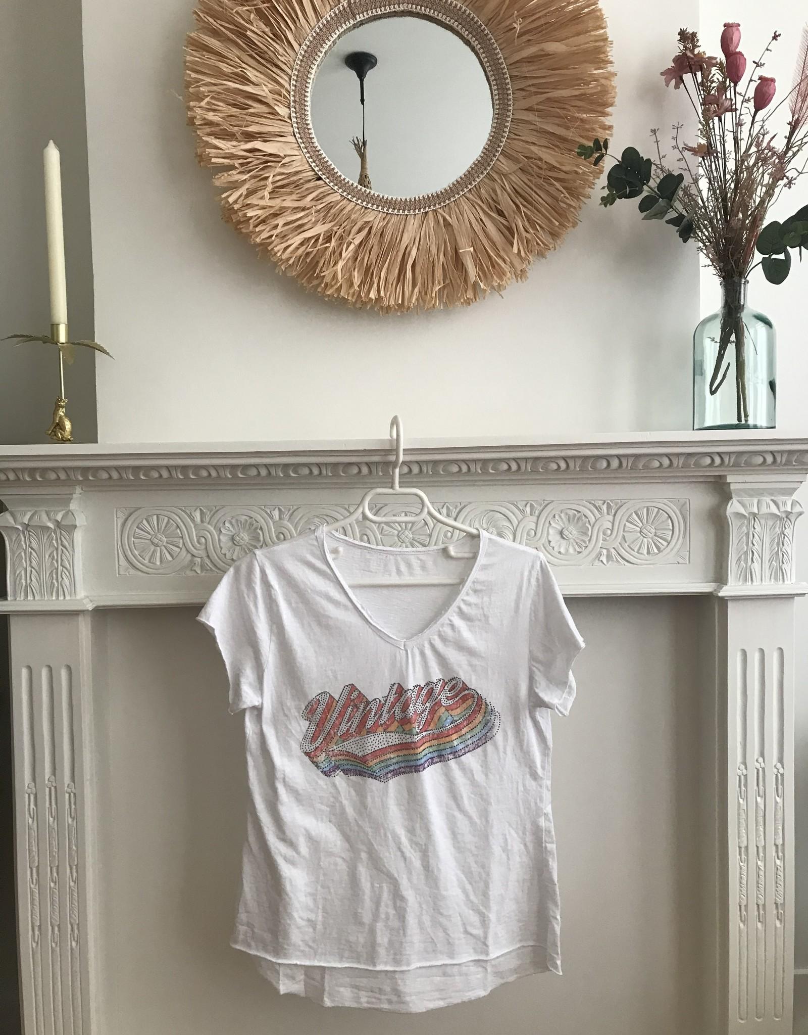 "T-shirt km ""Vintage"" wit"