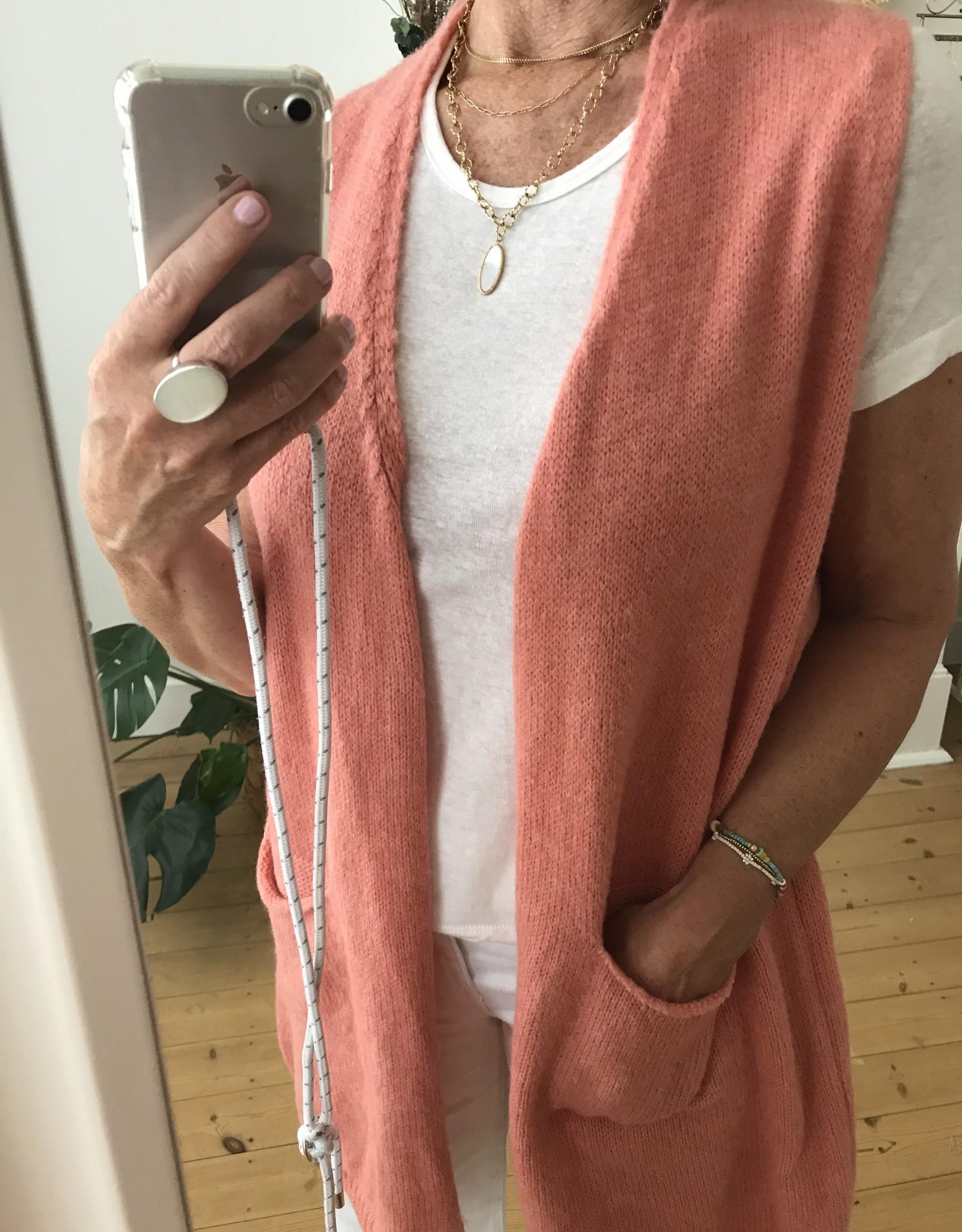 NC Lange vest mouwloos met zakjes 7% wol