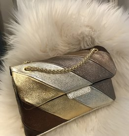 Rainbow tasje  klein metallic gold 21x14x6,5