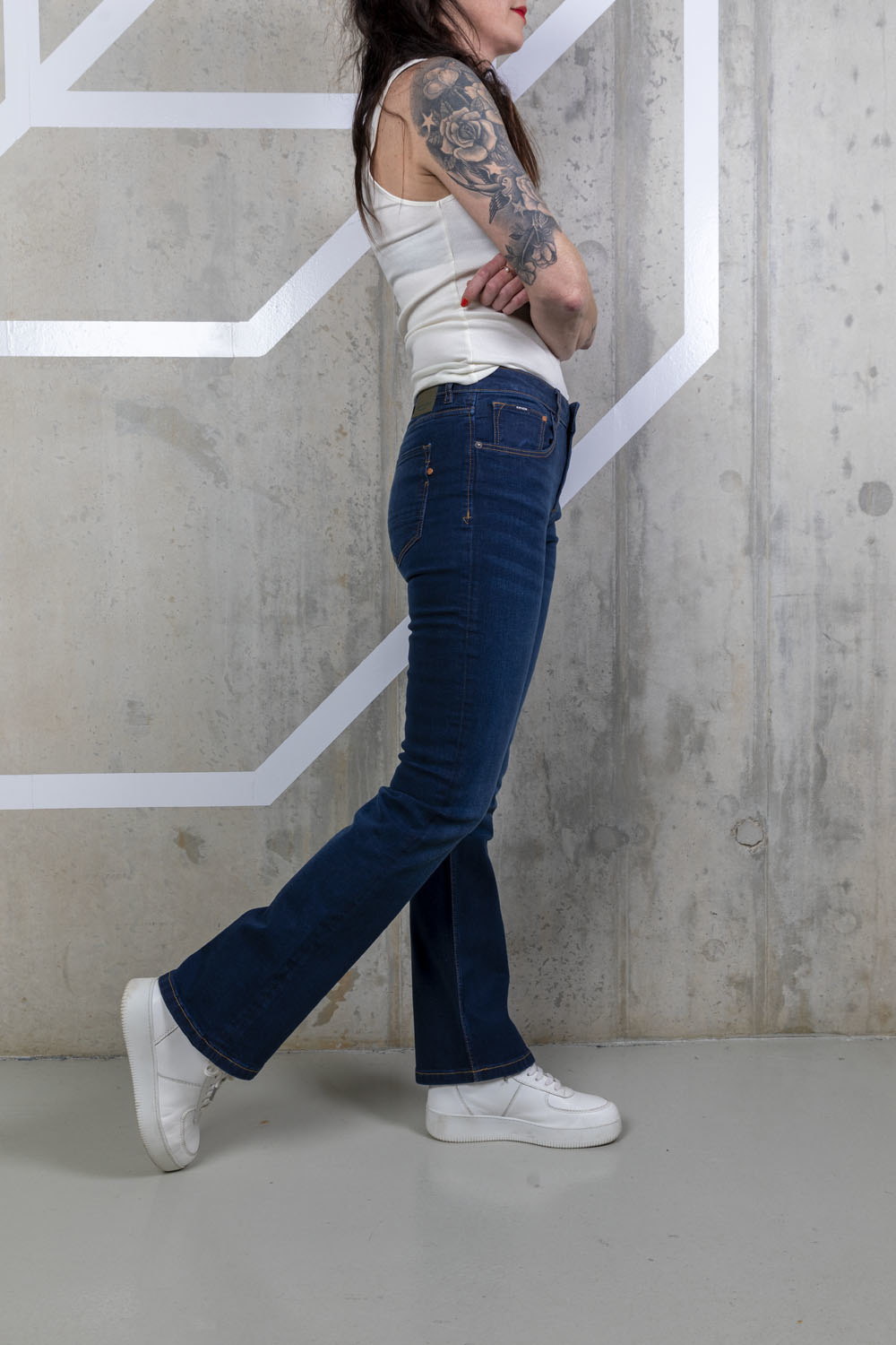 amy bootcut   herbal blue-7