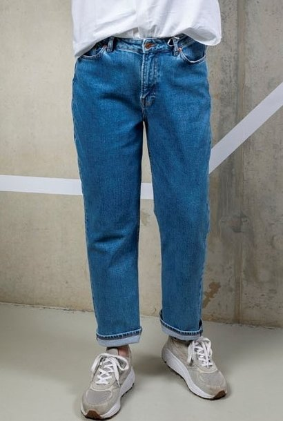 marianne jeans - light ozone marble