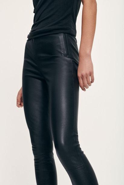 delta leather leggings | black