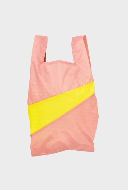 shopping bag M | try & fluo yellow