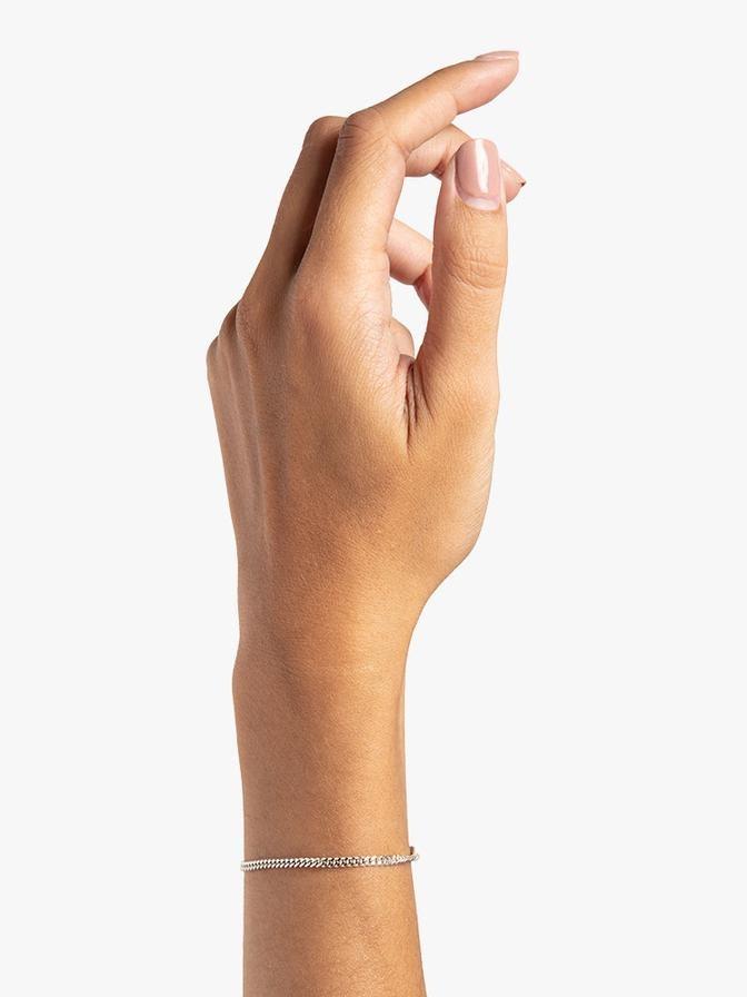 bracelet facet cable 2,5mm   silver-2