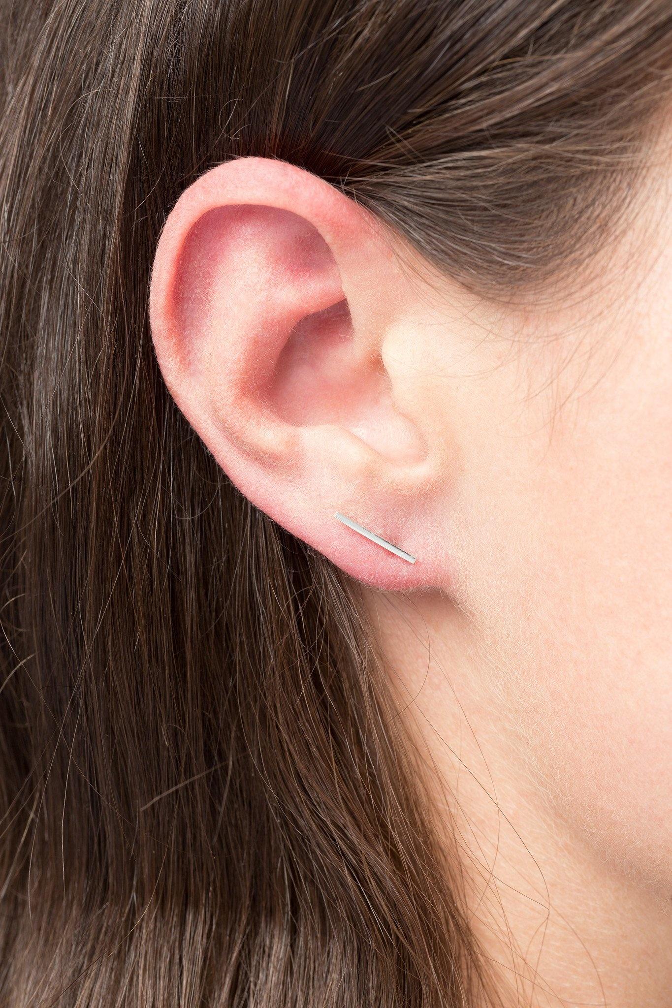 earring frontier L   silver - single-2