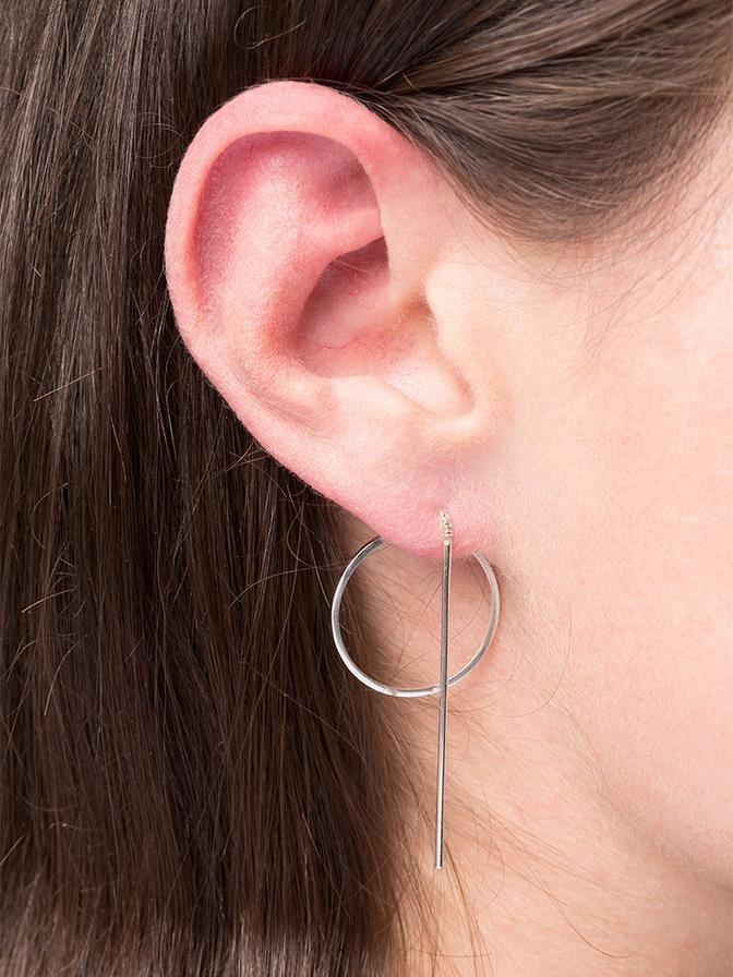 earring catch | silver - single-1