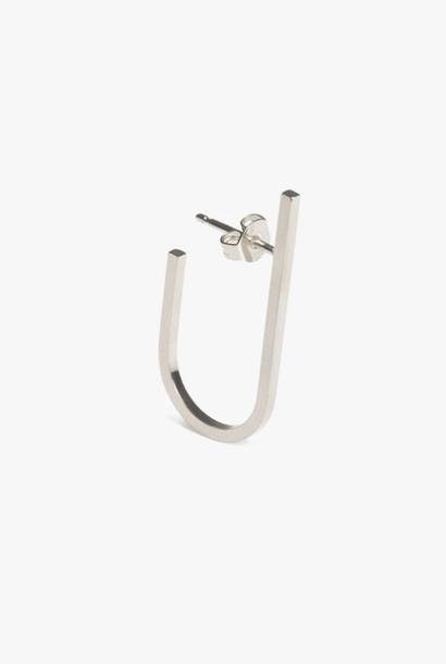 earring rivet | silver - single