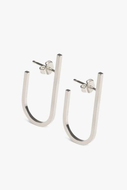 earring rivet | silver - pair