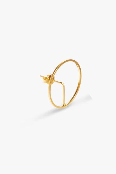earring element frame | gold