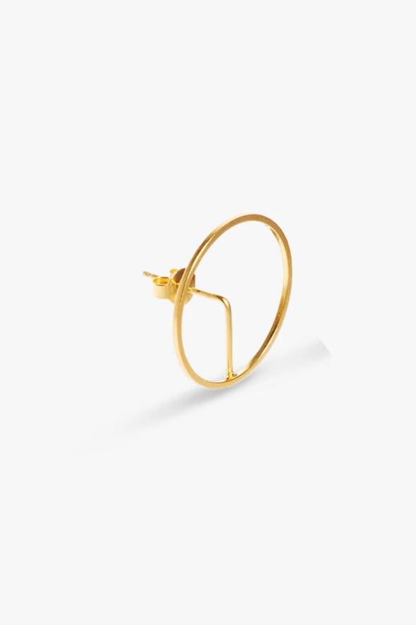 earring element frame   gold-1