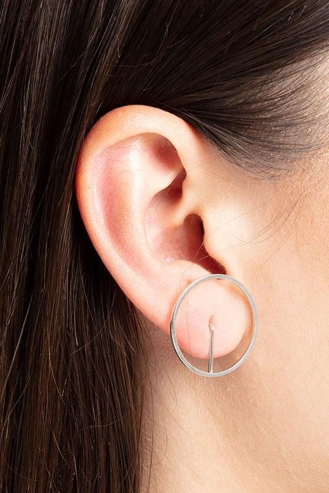 earring element frame   silver-1