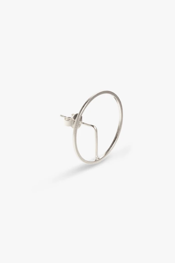 earring element frame   silver-2