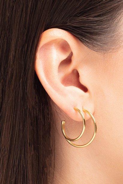 earring element hoop | gold - single left