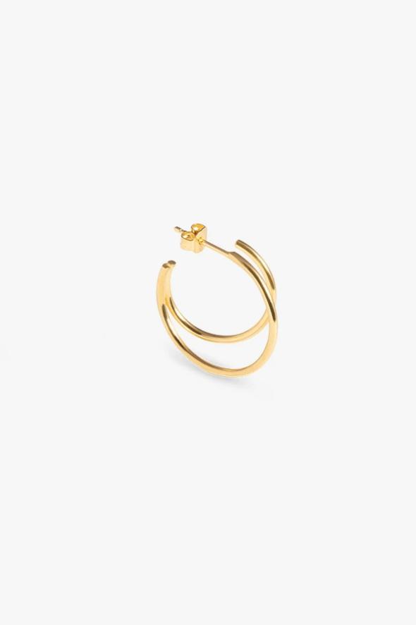 earring element hoop | gold - single left-2