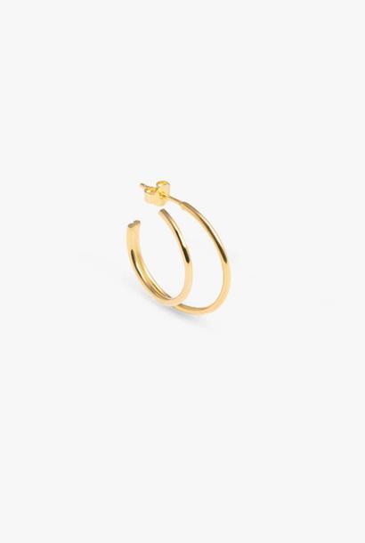 earring element hoop | gold - single right