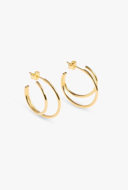 earring element hoop | gold - pair