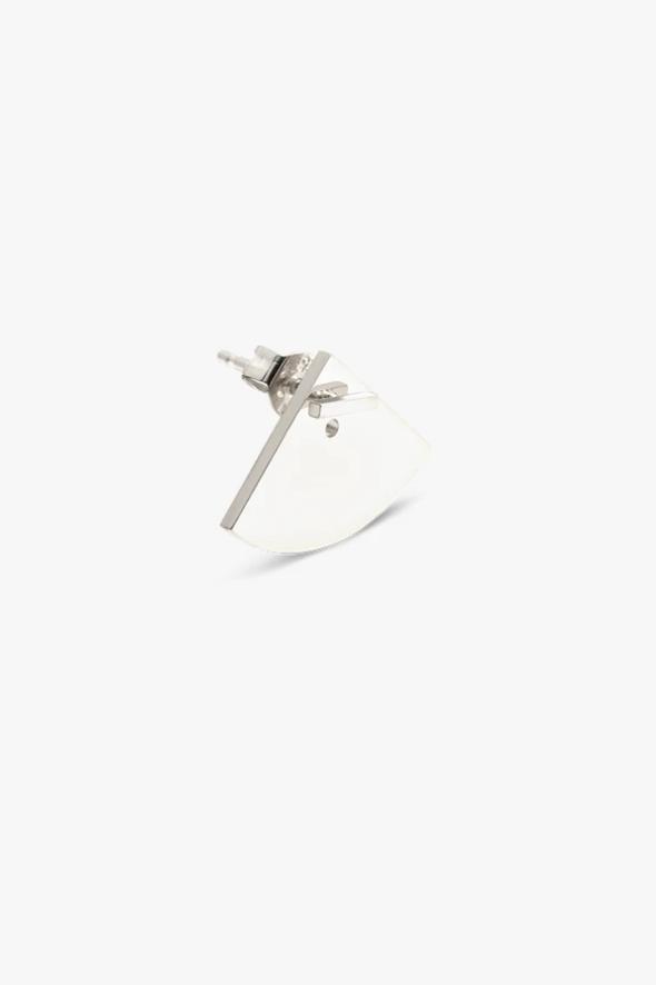 earring crescent back | silver - single-2