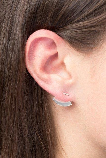 earring crescent back | silver - single