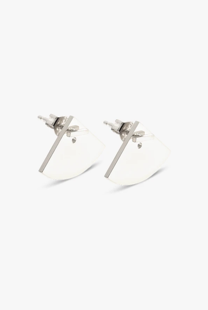earring crescent back | silver - pair