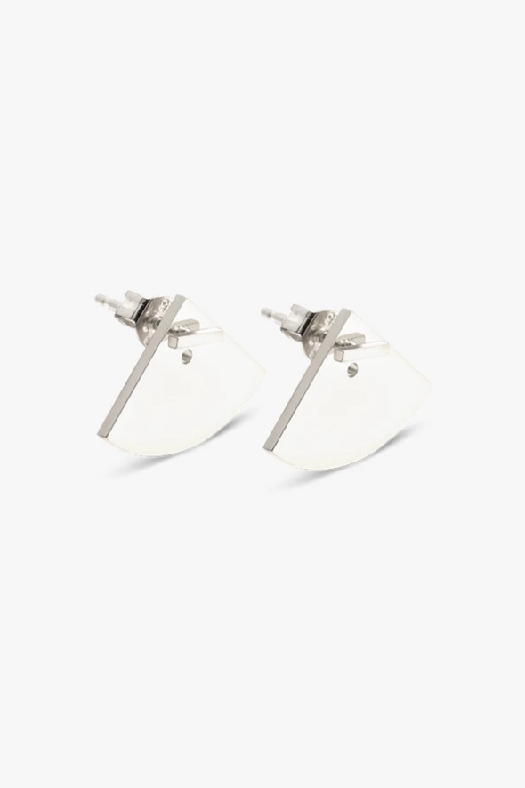 earring crescent back   silver - pair-1