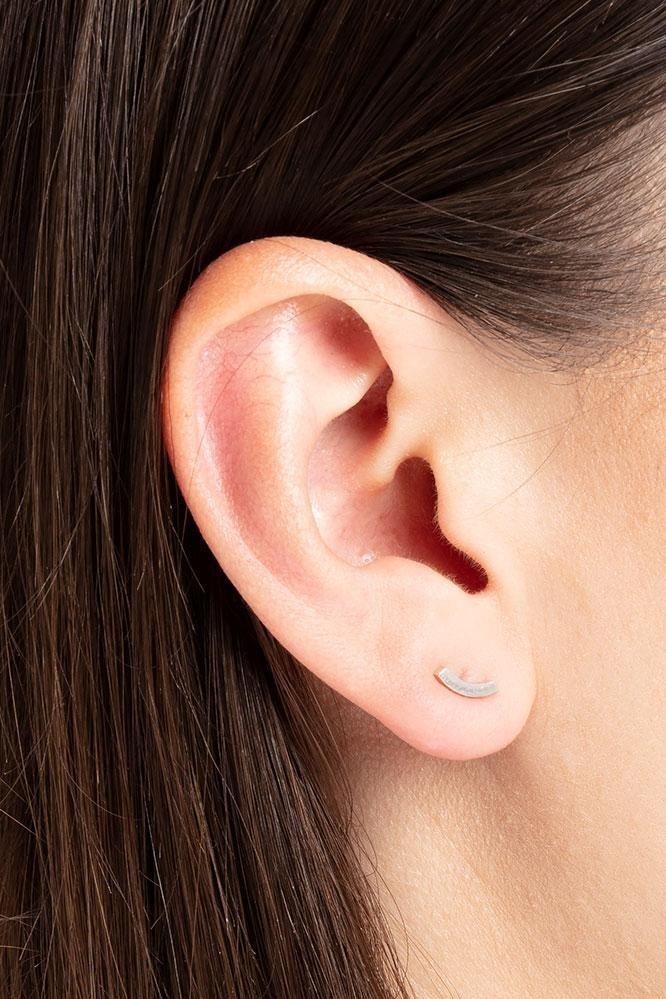 earring bit   silver - pair-3