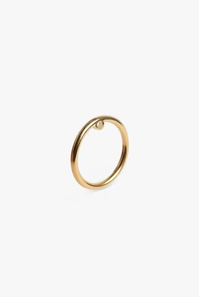 earring bit circle | gold