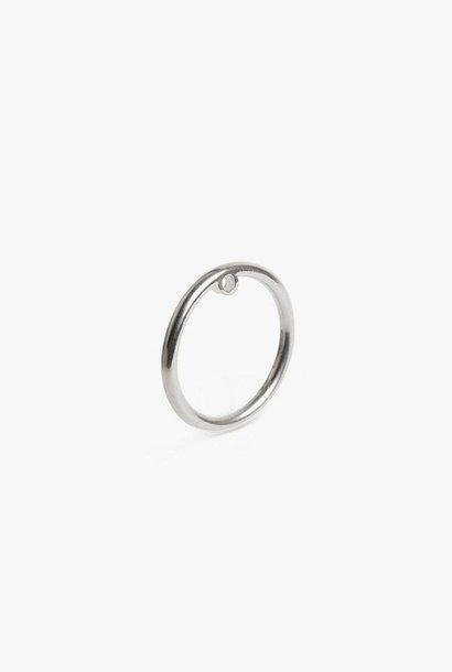 earring bit circle | silver