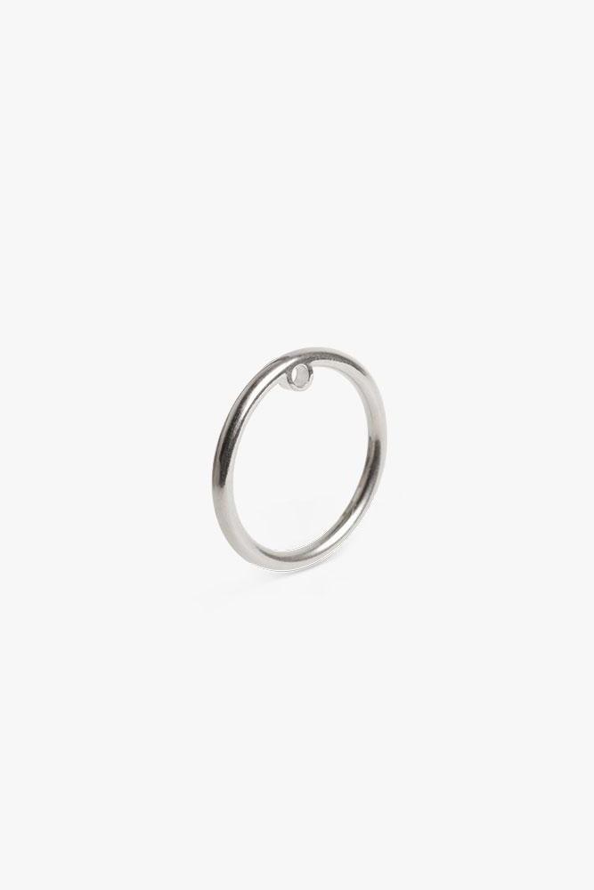 earring bit circle | silver-1