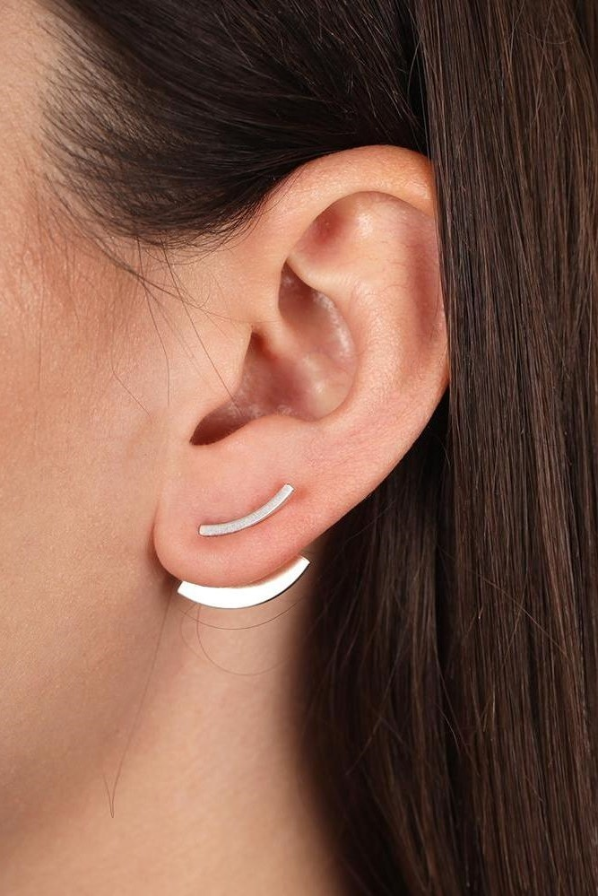 earring bit quarter | silver-2
