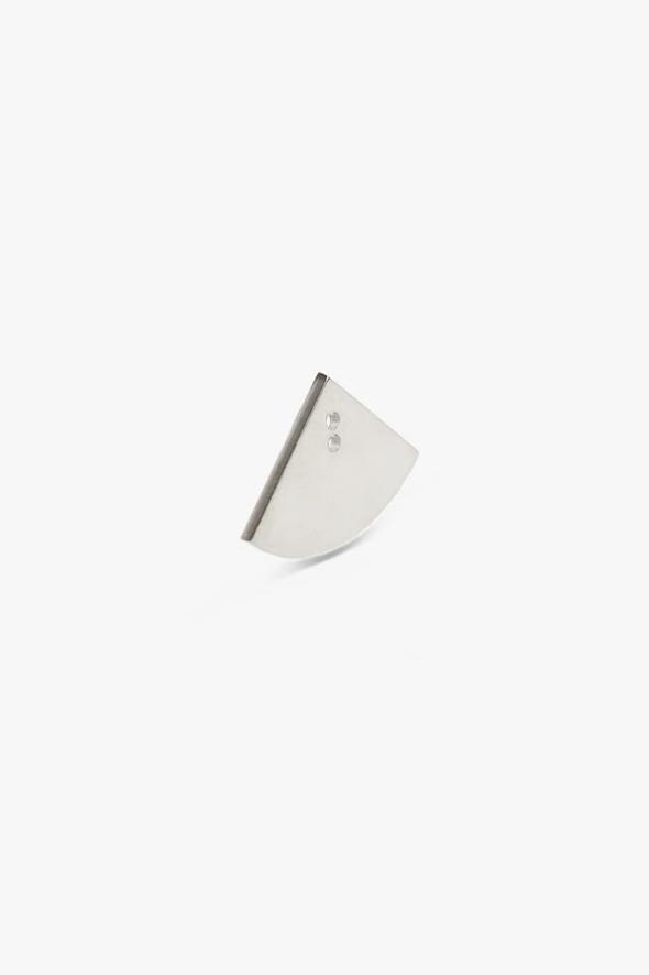earring bit quarter | silver-1
