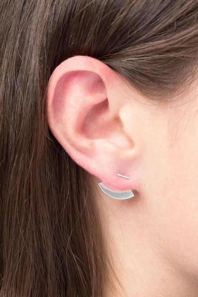 earring bit quarter | silver-3
