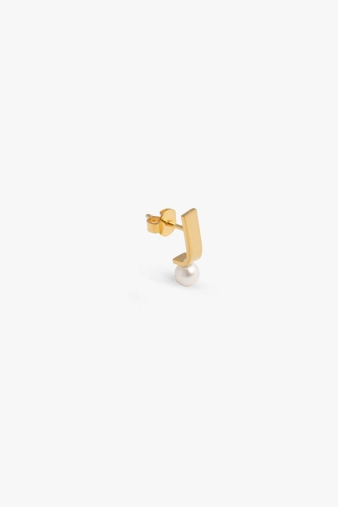 earring pack pin pearl | gold - pair-3