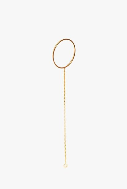 earring cord round | gold