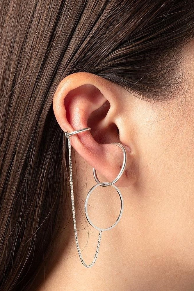 earring cord round | silver-2