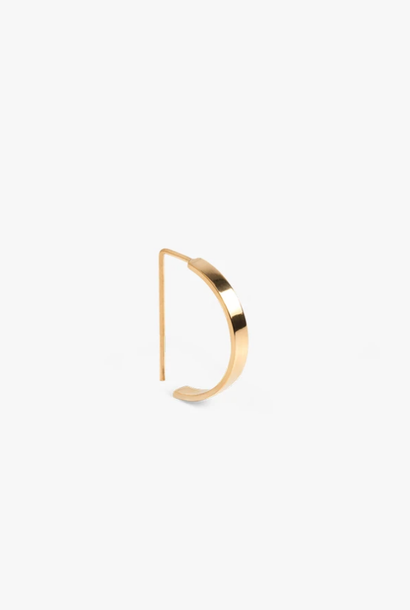 earring level oval | gold