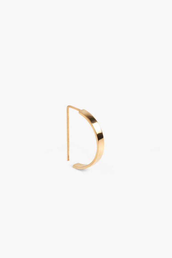 earring level oval | gold-1