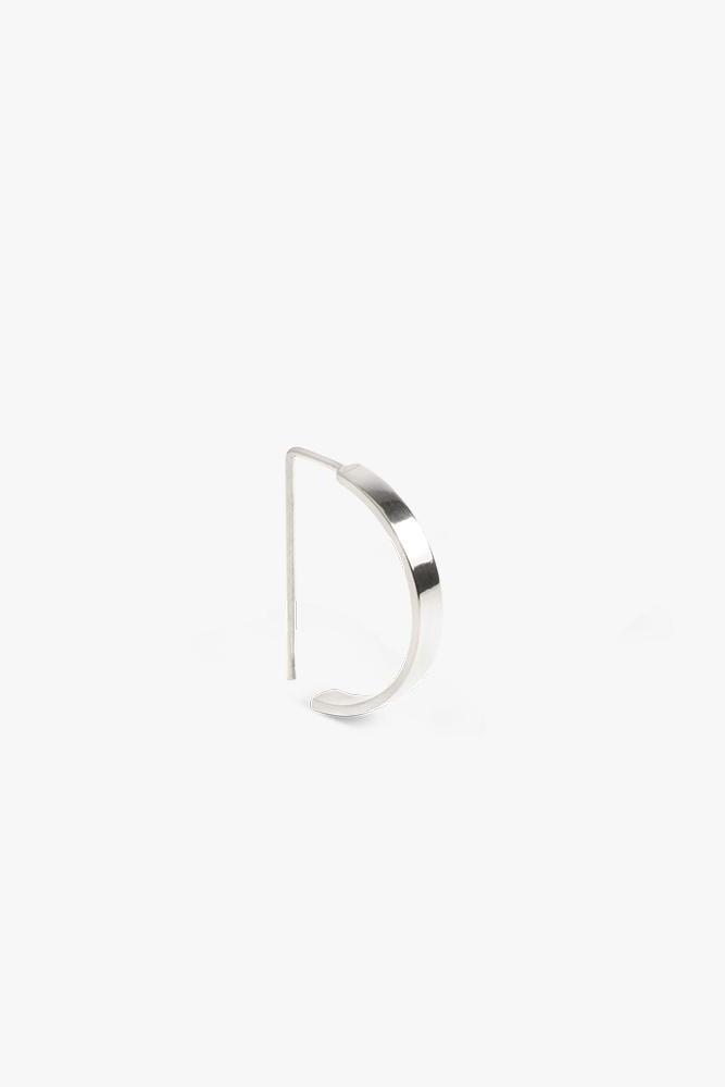earring level oval | silver-2