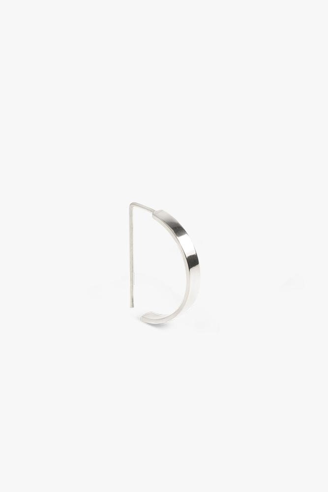 earring level oval   silver - pair-3