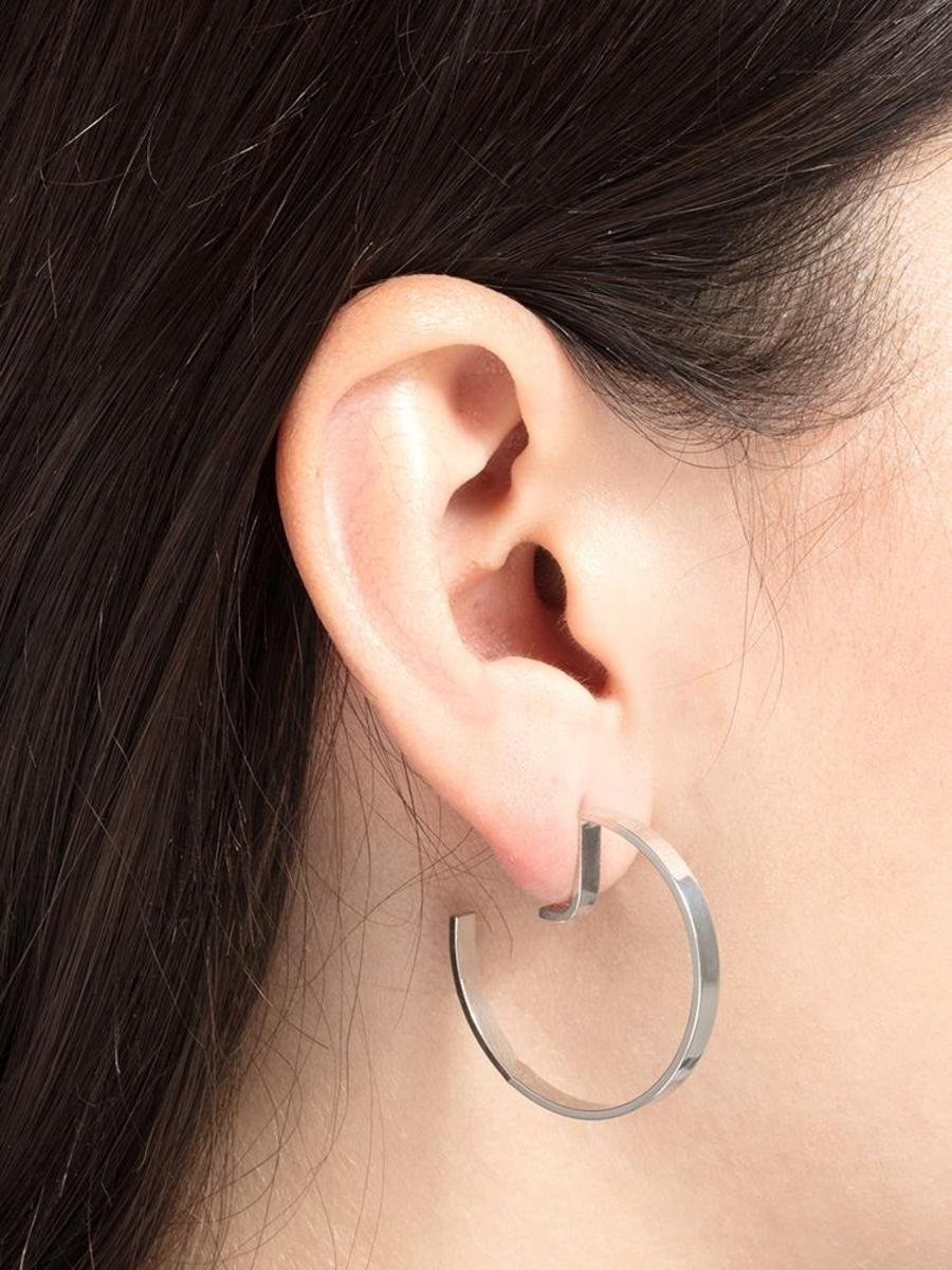 earring level round   gold-2