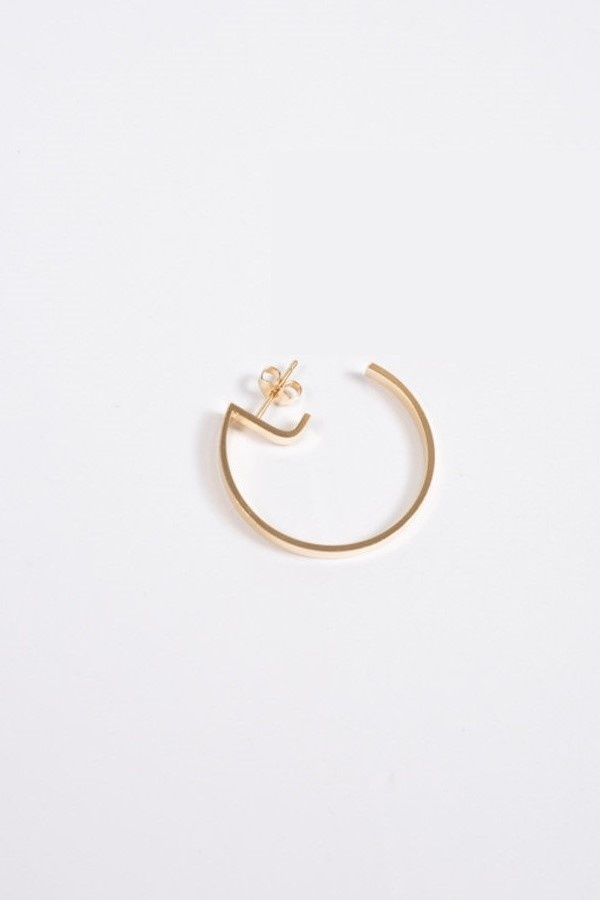 earring level round   gold-3