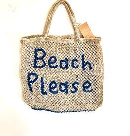 jute bag Beach Please