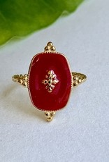 Burgundy Email Ring