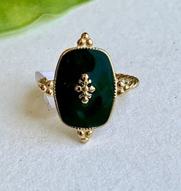 Emerald Email Ring
