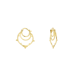 Kolam Earrings Gold