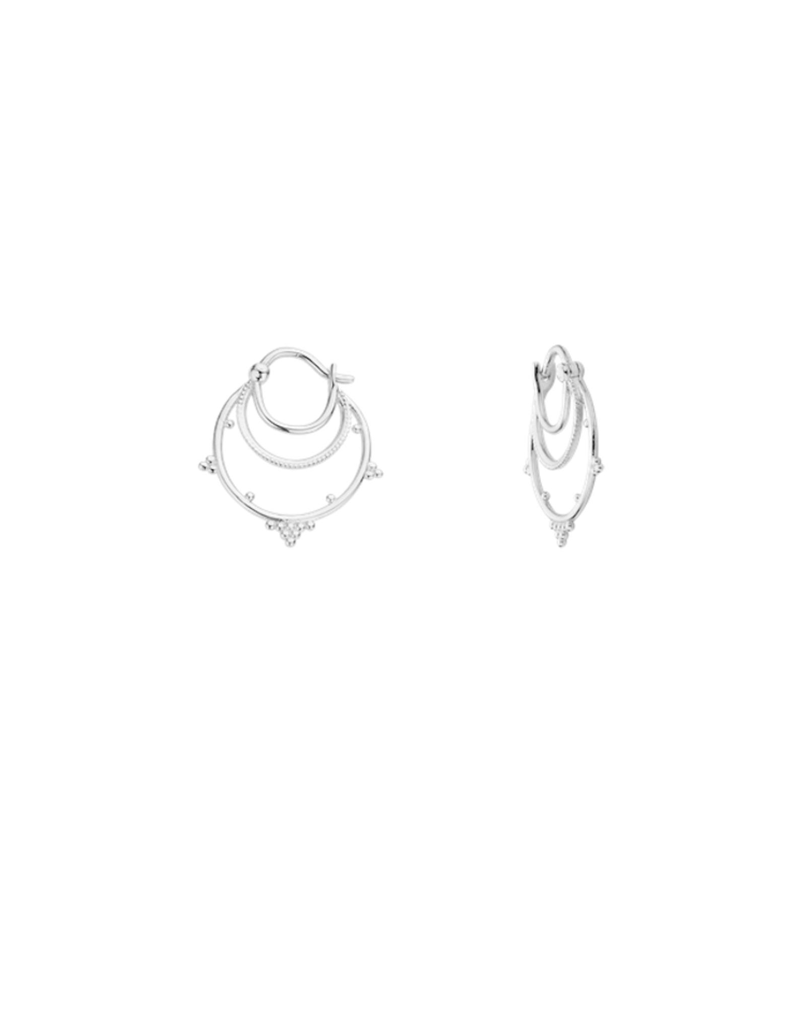 Kolam Earrings Silver