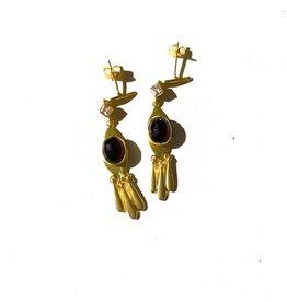 Goa Trip Earring Garnet