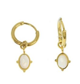 Izmir Earrings White