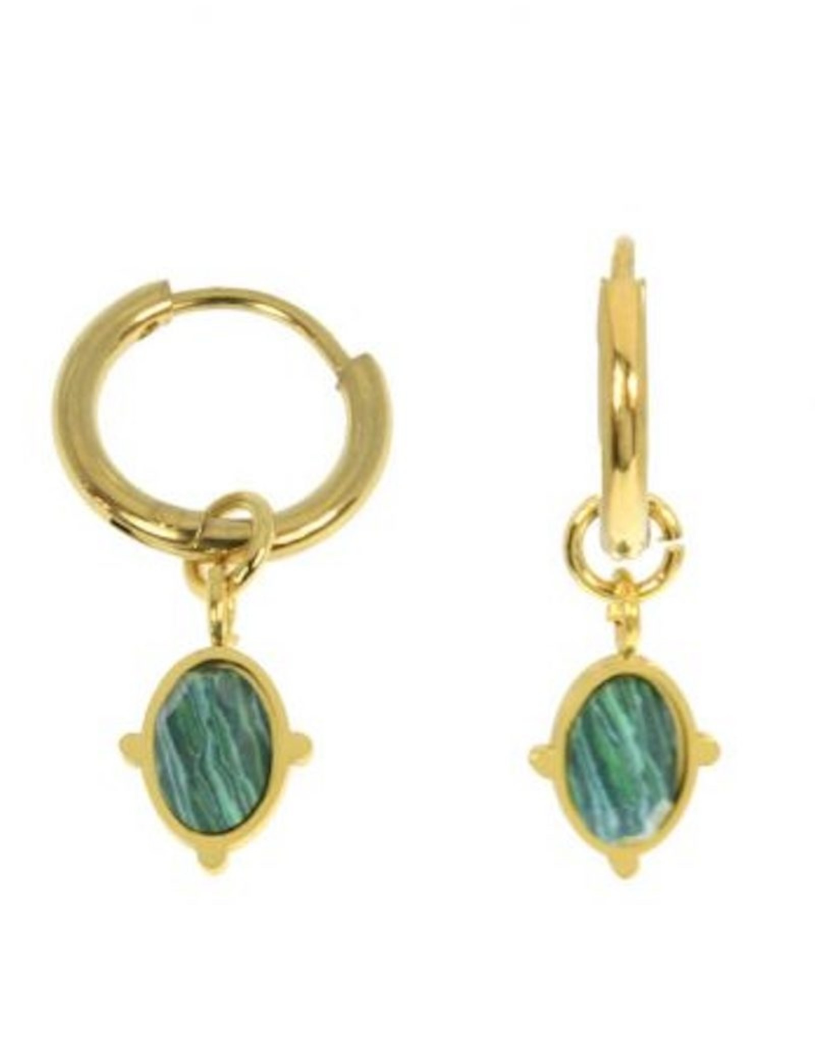 Izmir Earrings Green