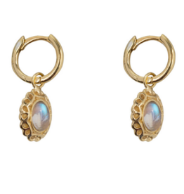 Antique Moonstone Hoops